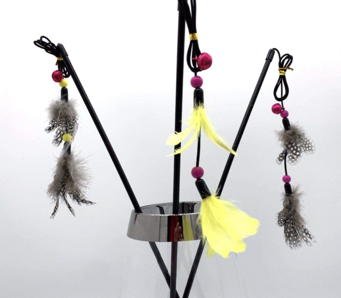 Mother of Bengals Feather Bell Cat Wand Teaser