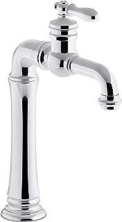 KOHLER 72763-9M-CP Artifacts Bathroom Sink Faucet, Polished Chrome
