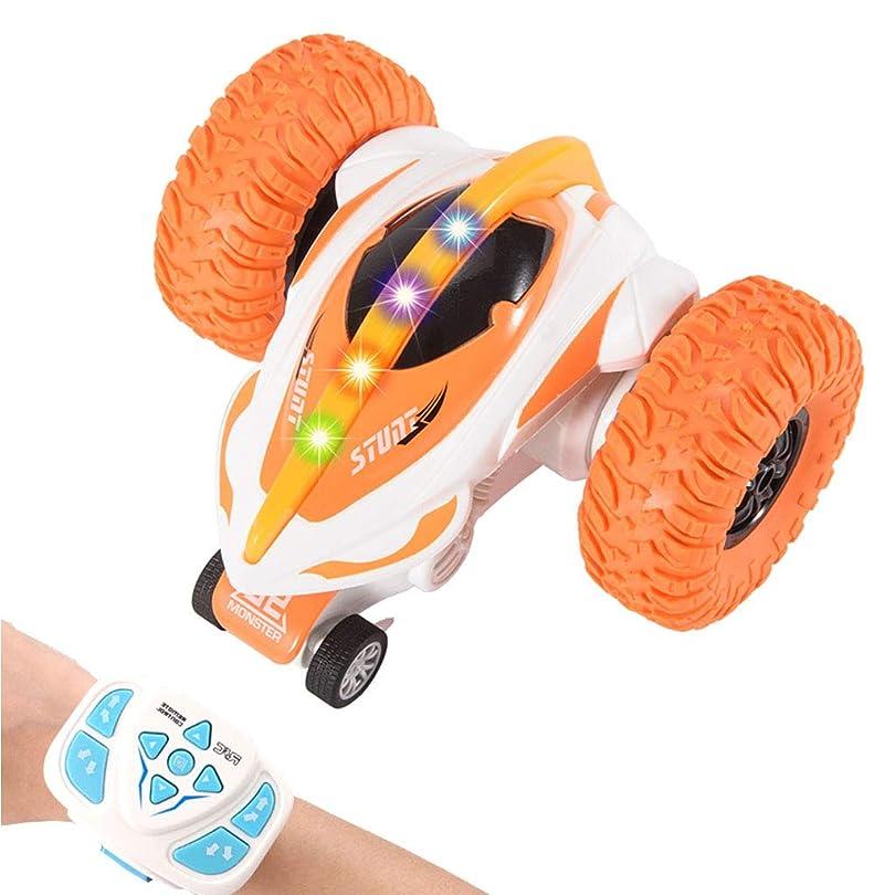 根拠びっくり震え2.4ghz off Road Vehicle Toy 360°Rotation Drift Rc Stunt Car Rc Remote Control Car a great Gift for B,オレンジ色