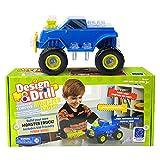 Set per la costruzione di veicoli con attrezzi elettrici Design & Drill - Fuoristrada di Learning Resources