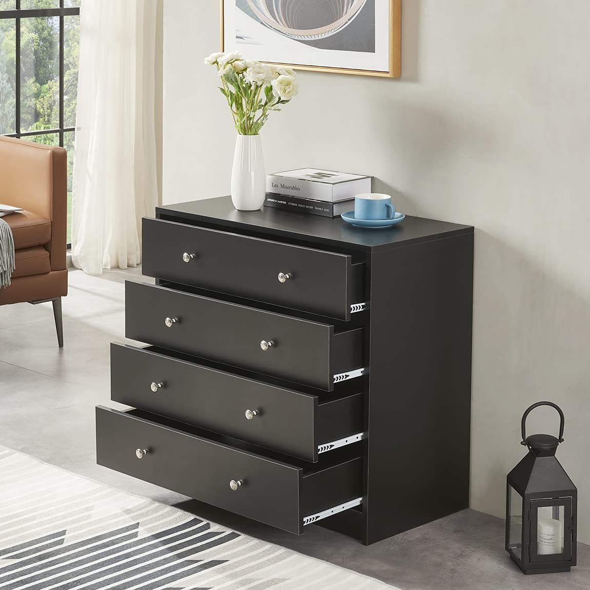 Limited time for Time sale free shipping Generic Chest of Drawers Modern Dresser Wood Drawer wit 4