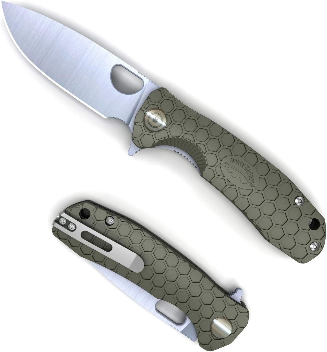 Western Louisville-Jefferson County Mall Active Honey Badger Pocket Regular dealer Folding Point EDC Drop Knife