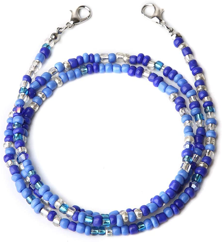 Face Mas-k Holder Beaded Necklace Strap, Face Cover Lanyards Chains for Women