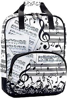 Mochila Poliéster 39Cm. Estampado Musical Cierre Cremallera Partitura Clave De Sol Notas