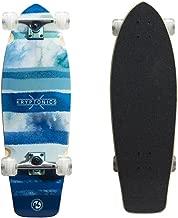 Kryptonics Super Fat Cruiser 30.5 Inch Complete Skateboard - Wide Cruiser Board - Blue Fish