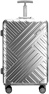 NJC Box Suitcase Big Capacity Aluminum Single Trolley Case Men and Women Suitcase