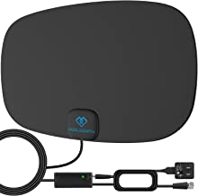 PERLESMITH TV Antenna - Indoor HD Antenna 110 Miles Long Rang Reception Supports 4K 1080P - Digital Antenna for HDTV VHF UHF Freeview Channels with Signal Amplifier and 16.5ft Coaxial Cable