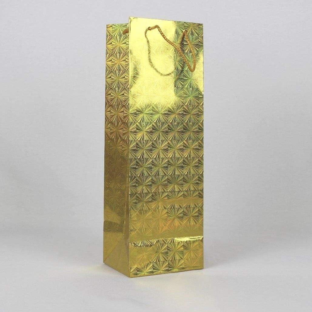 12 bolsas hologr/áficas de regalo para botellas de vino a elegir.