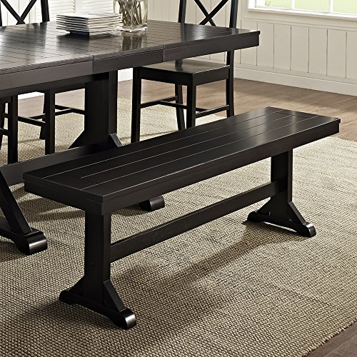 Walker Edison Furniture Dining Table, 60'-77', Black