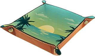 ATOMO Plateau de rangement en cuir pour clés, clés, clés, téléphone ou bijoux