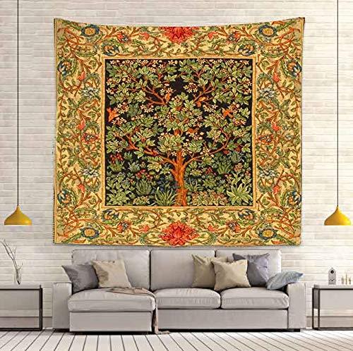 Tapiz de seta psicodélico colorido abstracto colgante de pared dormitorio de casa decoración de fantasía tapiz de tela de fondo A3 100X150CM