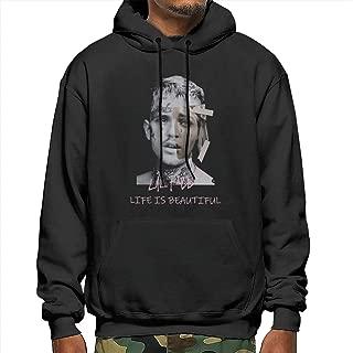 Muindancer Li-l Pee-p Men Pullover Hoody Cool Sweatshirts with Pocket Cap