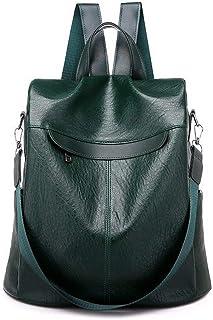 Mochila de gran capacidad para mujeres, antirrobo, para viajes y exteriores, mochila de día, verde oscuro (Verde) - P-92