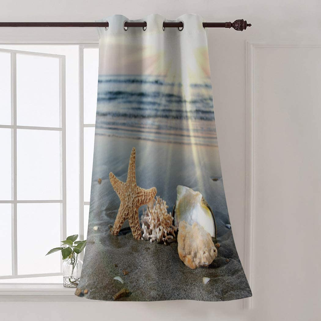 Room In stock Darkening Curtains Max 66% OFF with Sliver Skyline Grommet Top Beac Sun