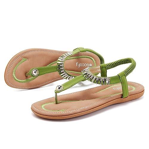 co Comfortable Beach Socofy Clip Flat uk Elastic Toe SandalsAmazon txoQdshCBr