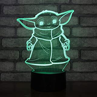 Lampara LED The Child Baby Yoda Cambia Color USB Luz Nocturna