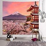 WERT Japan Mount Fuji Sakura Wandtuch Wandmalerei...
