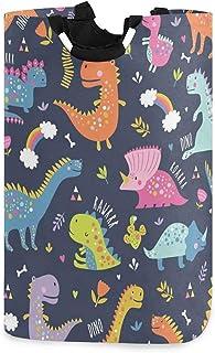 Mignon drôle enfants dinosaures panier à linge panier seau pliable vêtements sales sac poubelle à laver jouet organisateur...