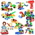 Jasonwell STEM Toys Building Blocks - 166+PCS Educational Construction Set Creative Engineering Toys Building Toys Kit Stem Activities Learning Gift for Kids Ages 3 4 5 6 7 8 9 10 Year Old Boys Girls