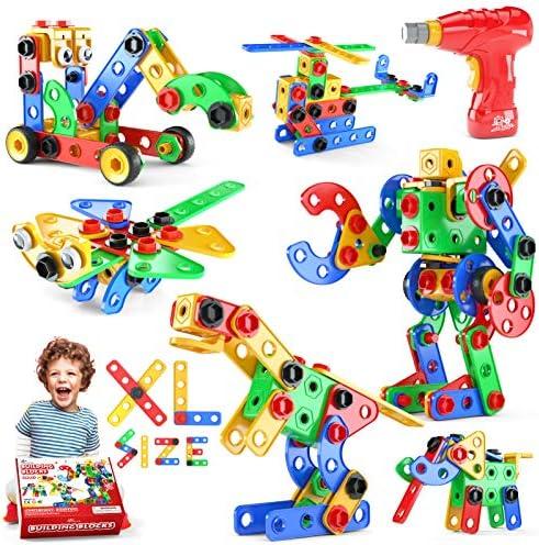 Jasonwell STEM Toys Building Blocks 168 PCS Educational Construction Set Creative Engineering product image