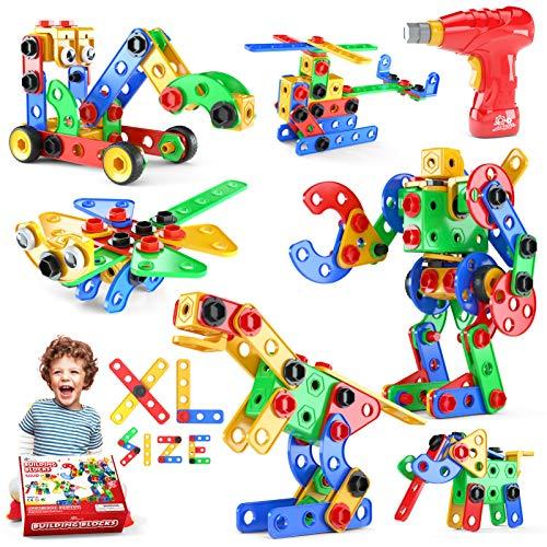 Jasonwell STEM Toys Building Blocks - 168 PCS Educational Construction Set Creative Engineering Toys Building Toys Kit Stem Activities Learning Gift for Kids Ages 3 4 5 6 7 8 9 10 Year Old Boys Girls