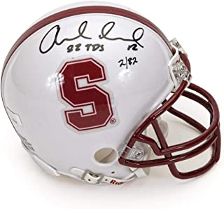 Andrew Luck Autographed Stanford Mini Helmet with 82 TDs