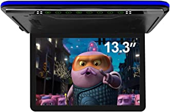 13.3 inch Car Overhead Monitor FHD Digital TFT Screen 1080P Video Car Overhead Player Roof Mounted Monitor HDMI Port White...