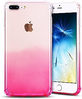 4e208444f16 Anfire Funda iPhone 7/8 Plus Silicona Carcasa Transparente Suave Gel TPU  Bumper Tapa Airbag