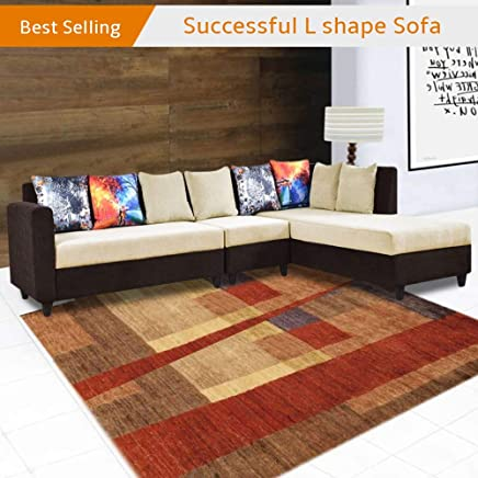 Furny Cassidy FabFurny021 Six Seater L Shape Sofa (6S- L Shaped- Right, Brown)