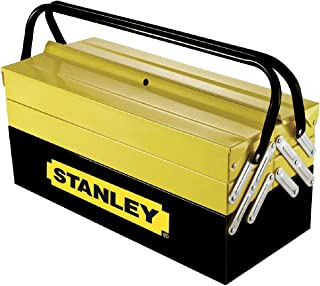 Stanley 5 Tray Metal Tool Box, 1-94-738, Yellow
