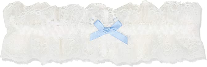 Bluebella Women's Garter Hosiery And Suspenders, Off-White (Ivory/blue), OS