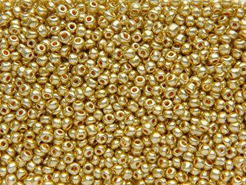 SACHET DE 450 (32,15g) PERLES DE ROCAILLES DORÉ DIAMETRE 4mm 6/0 - LIVRAISON GRATUITE- CREATION PERLES
