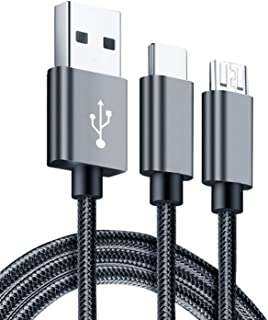 Infinix XPL02 Metal Micro USB And Type C Cable, 1000 Mm - Grey
