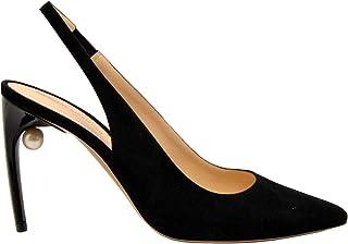 NICHOLAS KIRKWOOD Women's CHANELCAMOSCIONEROPERLA Black Leather Heels