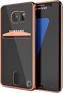 Galaxy S6 Case, PUNKcase [Lucid Series] [Slim Fit] Protective Dual Layer Armor Cover W/Scratch Resistant PUNKSHIELD Screen Protector [Card Slot Design] for Samsung Galaxy S6 [Rose Gold]