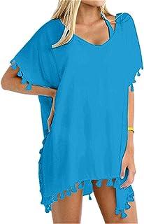 f2ee9d38c4f60 Yincro Women Chiffon Tassel Beach Bathing Swimsuit Cover ups