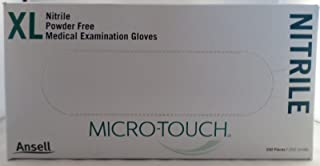 Ansell Micro-Touch Nitrile Exam Gloves Extra-Large (XL) - 100 Pairs - 6034304
