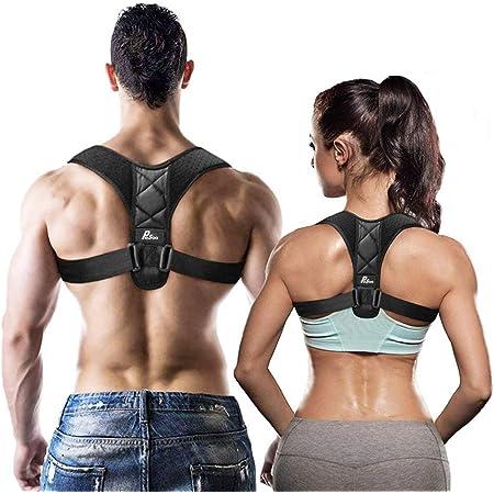 Corrector de Postura - Pesoo Corrección de la Postura de Espalda para Mujeres, Hombres y Adolescentes Alivio del Dolor de Hombros, Cuello Ajustable y Cómodo Dispositivo de Soporte para Clavícula de la Parte Superior de la Espalda