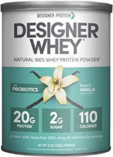 Designer Whey Protein Powder, French Vanilla, 12 Oz, Non Gmo,  Made in the USA