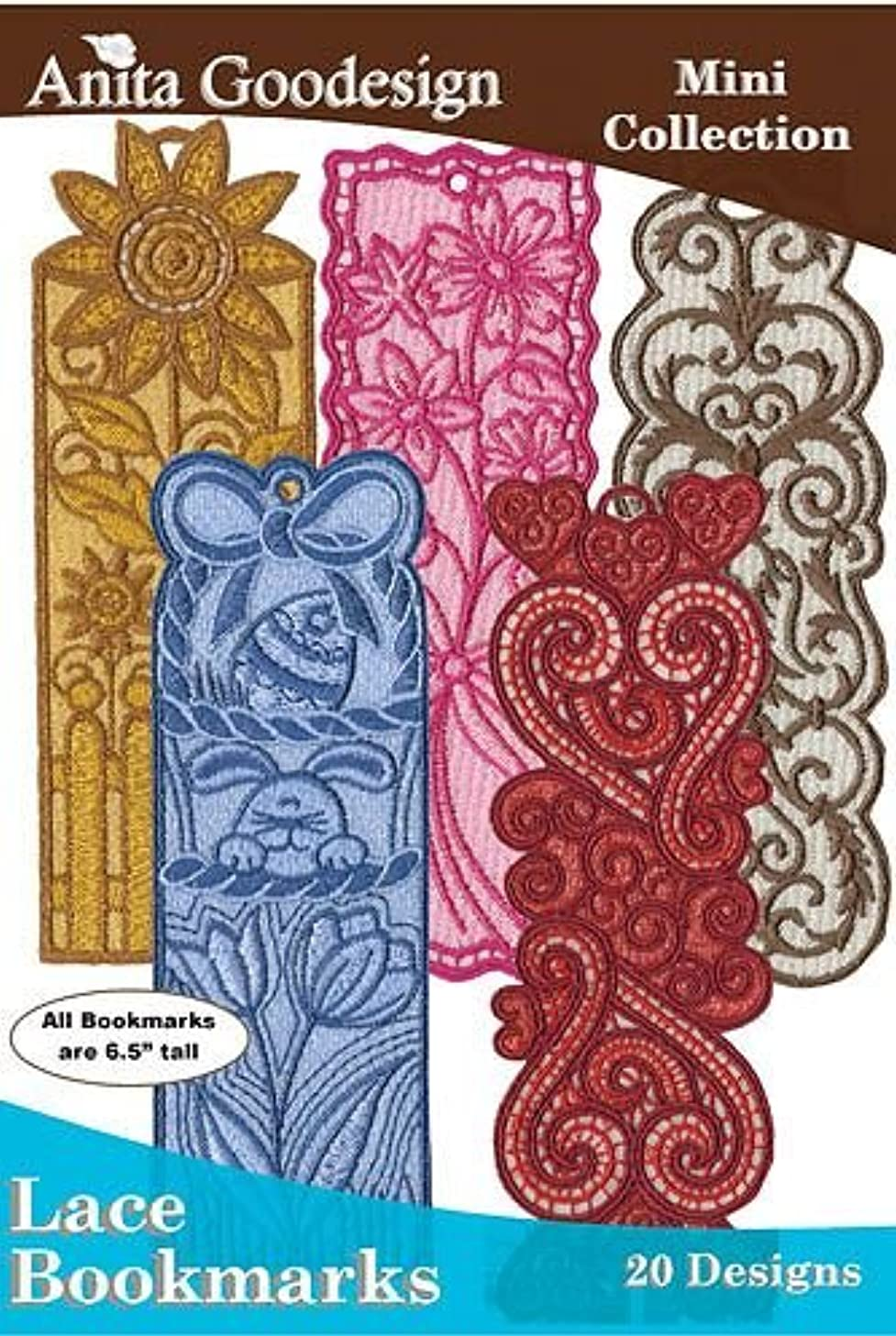 Anita Goodesign Lace Bookmarks Embroidery Designs