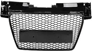 Qii lu Hex Mesh Honeycomb Grill For TTRS Style Front Sport Hex Mesh Honeycomb Hood Grill Black for Audi TT/TTS 8J 06-14