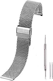 Milanaise Acero Inoxidable Malla Reloj de pulsera metal Reloj de pulsera pulseras Watch banda 18mm 20mm 22mmm Plata Negro Rose Gold