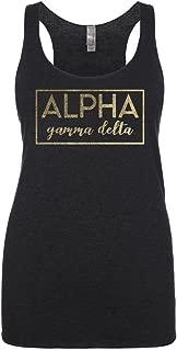 Alpha Gamma Delta Metallic Foil Tank Top