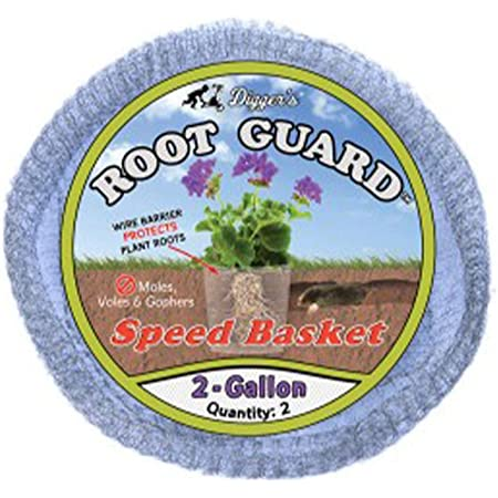 Digger's RootGuard 2-Gallon Gopher Wire Speed Baskets (2-Pack) – Gopher Baskets Made For Fast Installation – Effective Gopher Repellent For Annuals, Perennials, Bulbs & Vegetables