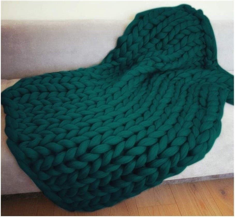 ZCXBHD Chunky Arm Knit Blanket Hand Throw Blanke Ranking TOP12 2021 autumn and winter new Yarn Vegan Soft