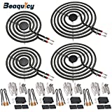 MP22YA Electric Range Burner Element Unit Set(2 pcs MP15YA 6' & 2 pcs MP21YA 8') with 4 Pack 330031 Surface...