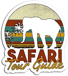Hand Wooden Customizable Sticker Safari Tour Guide African Costume Stickers for Personalize (3 pcs/Pack)
