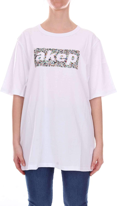 Akep Women's KE747WHITE White Cotton TShirt