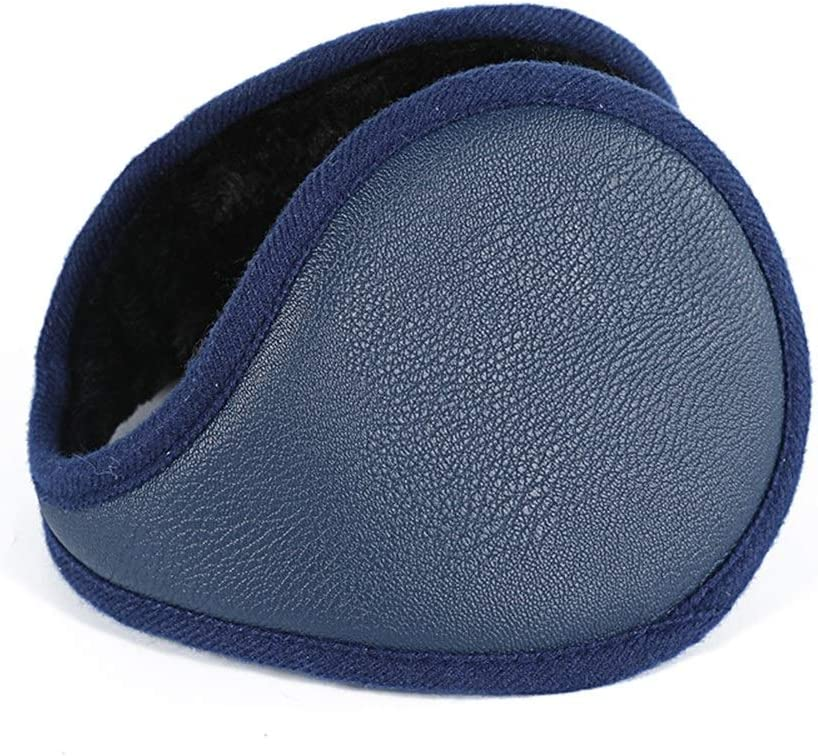 ZYXLN-Earmuffs,Foldable Adjustable Earmuffs Ear Protection Winter Cold Weather Ear Muffs Earmuffs for Men Outdoor Protective Earmuffs Warm Earmuffs (Color : Navy)