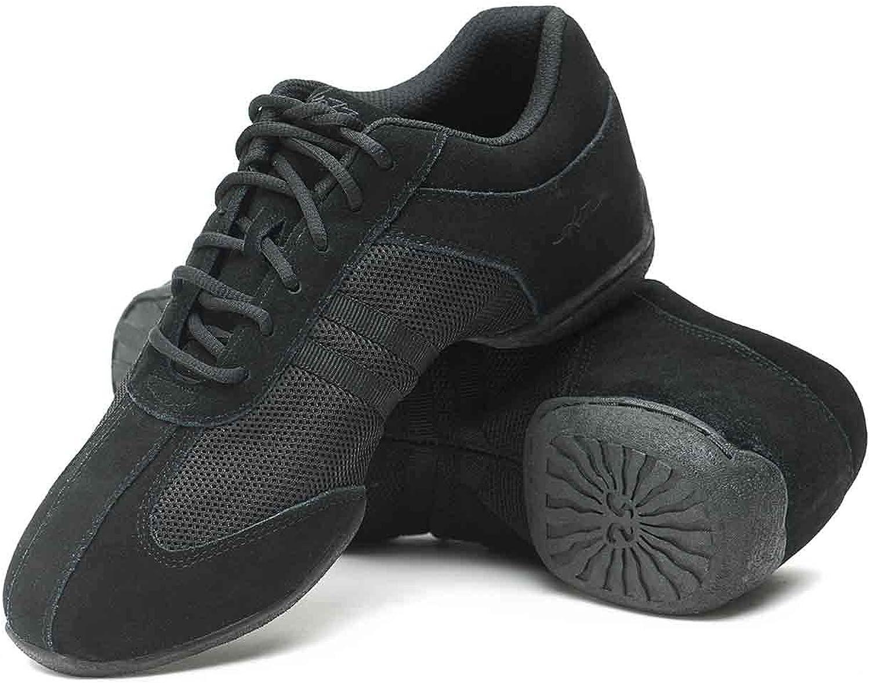 Skazz by Sansha Women's Dance Studio Exercise Sneakers Suede Rubber Split-Sole DYNA-MESH (US